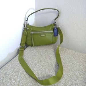 Coach  Green Leather Crossbody Bag